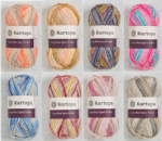 0  8 pack assorted  Cozy knits prints  yarn with wool